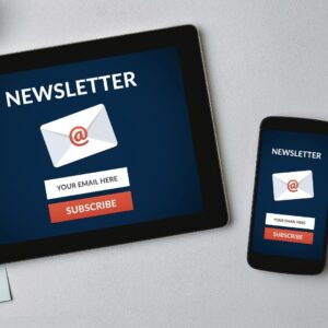 Create an Email Newsletter.